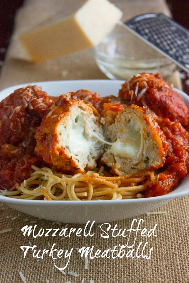 Mozzerella Stuffed Turkey Meatballs…but I will sub out ground beef for turkey