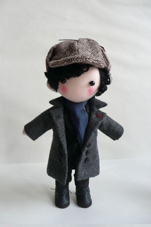 Sherlock Doll. $53.00, via Etsy.
