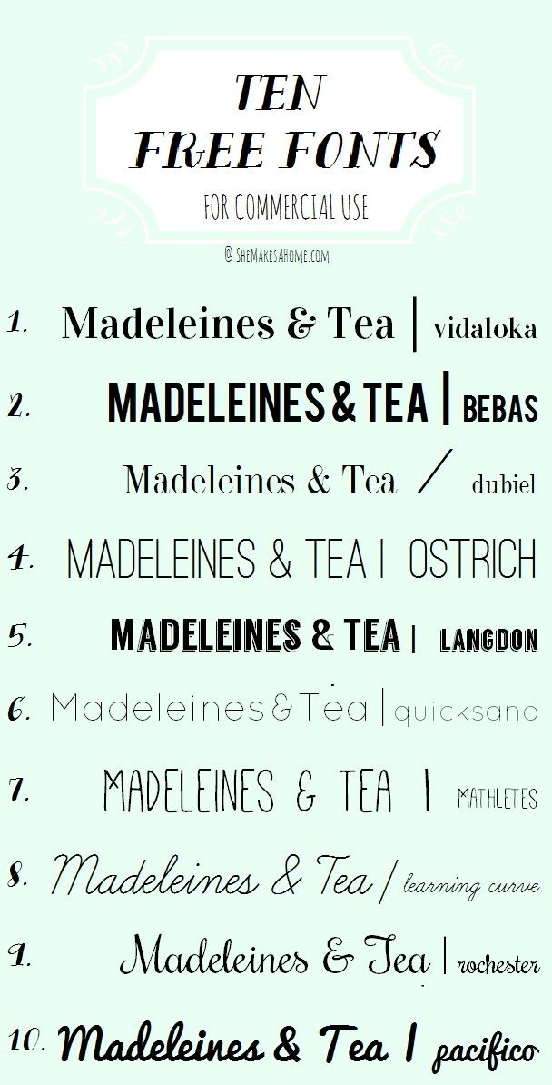 * She Makes a Home *: Ten Free Fonts for Commercial Use  ~~ {w/ easy links}