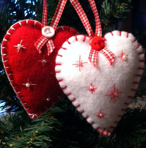 Alpine Heart Felt Ornament