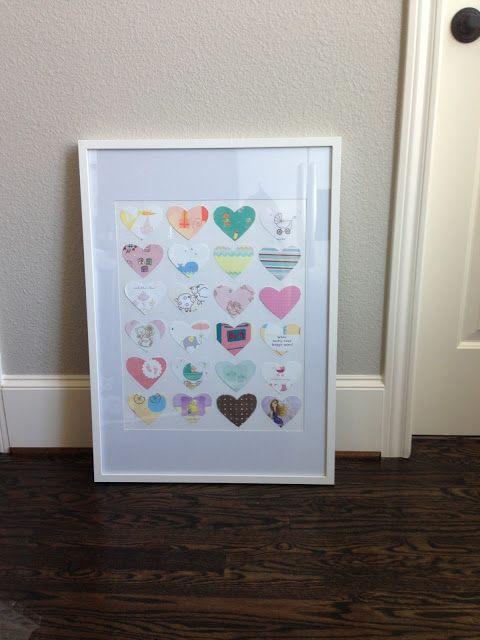 Veronikas Blushing: DIY: Transform Your Baby Shower Cards into Nursery Art!
