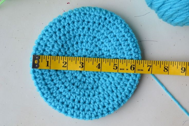 Crochet hat size guide