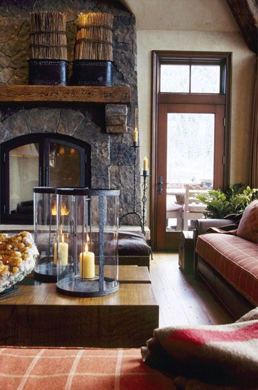 #Fireplaces are a gorgeous decor piece when done with thought and soul. Ambiance