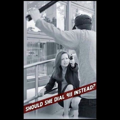 Should she dial 911 instead?