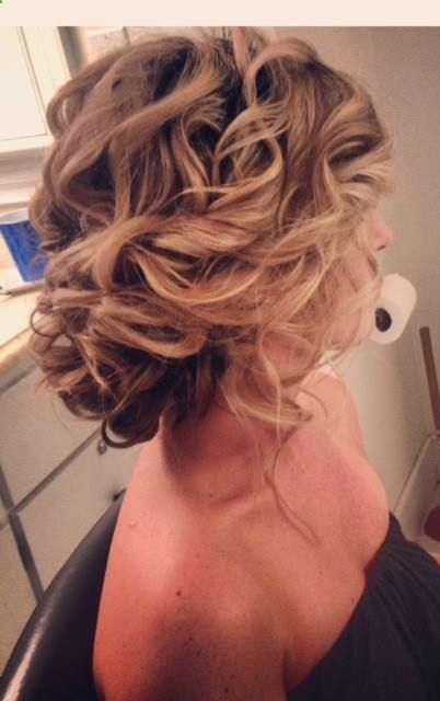 Loose, soft Updo…. If I grow my hair back. Cause Im cool and chopped it all of