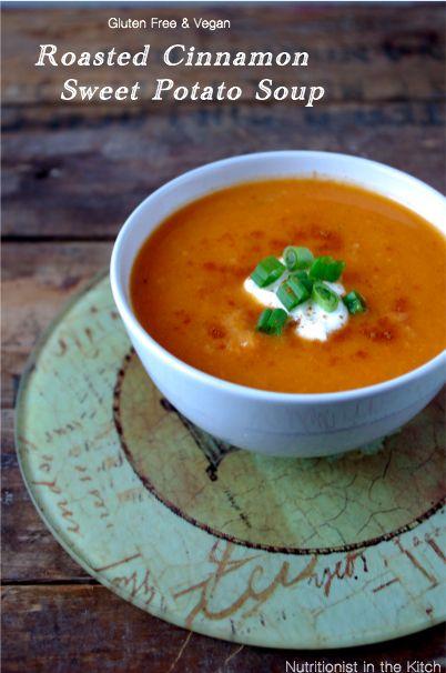 Roasted Cinnamon Sweet Potato Soup – Gluten Free & Vegan