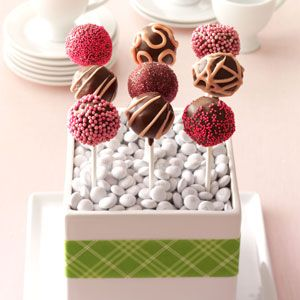 Raspberry Truffle Cake Pops ~ Rich chocolate with a hint of raspberry liqueur…