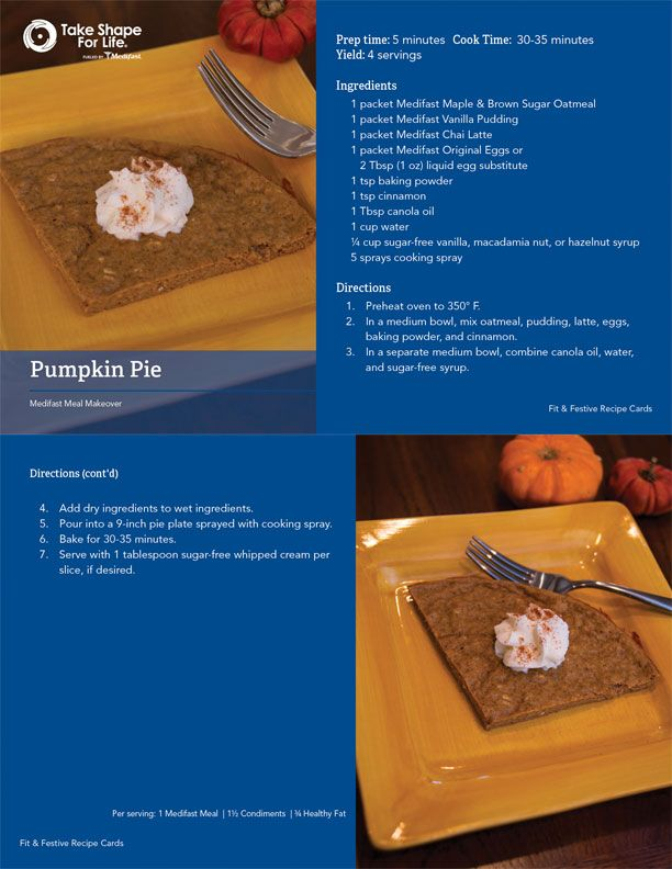 No need to skip dessert this year – you can have your pie and eat it too!