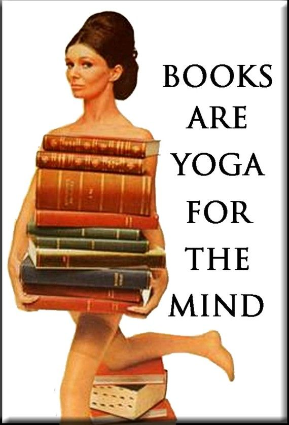 Books are YOGA for the mind FRIDGE MAGNET by mindseyecards on Etsy, $4.00