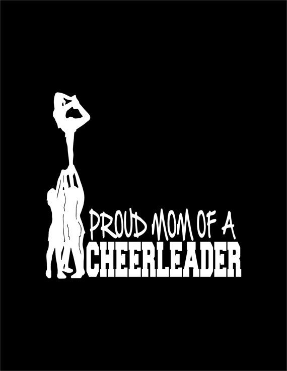 Proud Mom of a Cheerleader Decal Stunt Scorpion Cheerleading Laptop Cheer Window