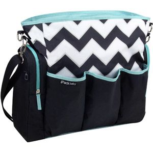 iPack Diaper Bag, Chevron…if baby is a boy, I might have to do this. My diaper