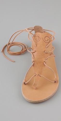 Ancient Greek Sandals Circe T Strap Flat Sandals