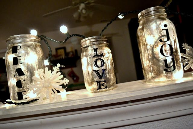 Antiqued Mason Jar-  I have one in a wine bottle, and it is covered with a piece