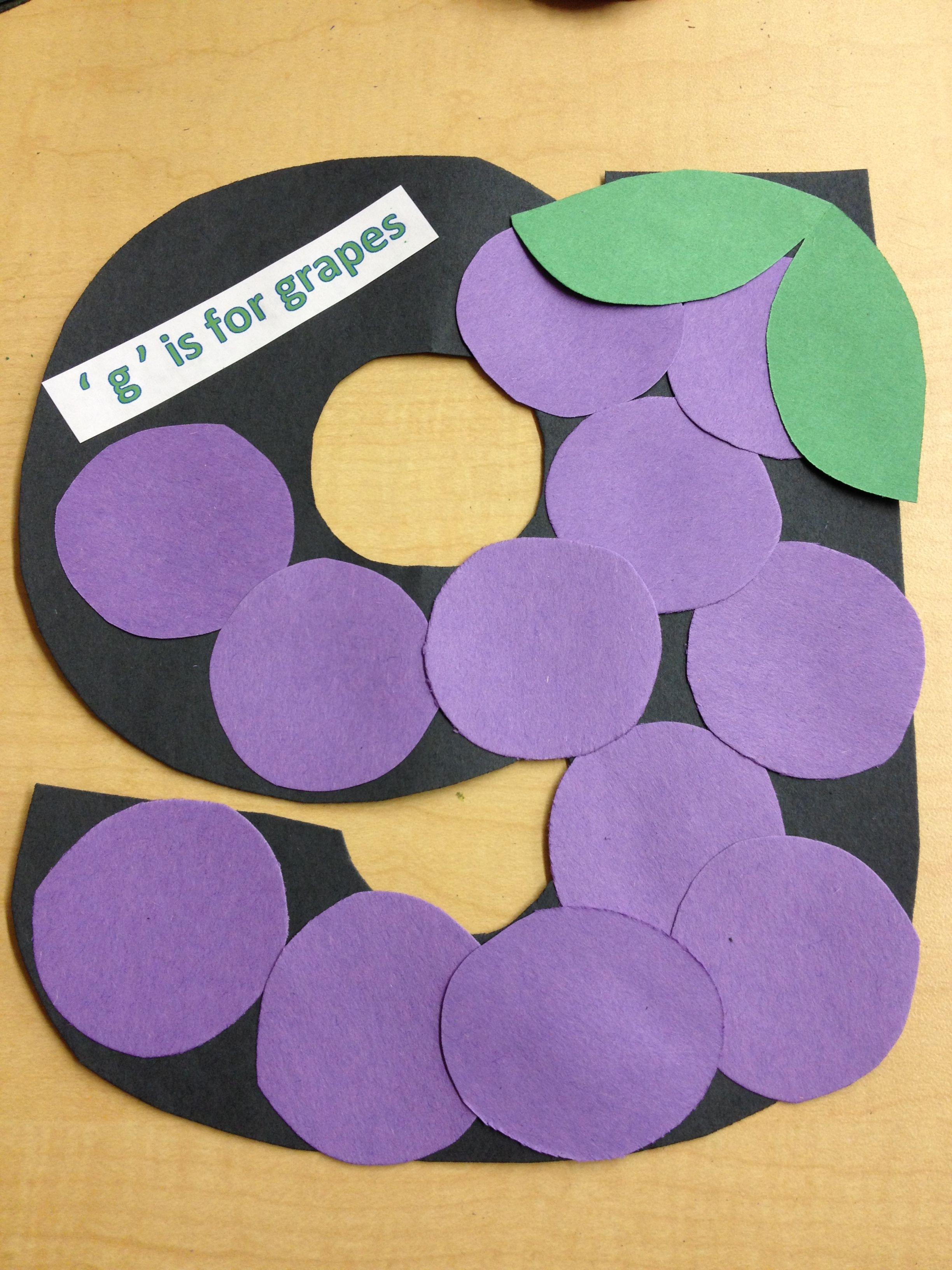 Lowercase G Preschool Craft