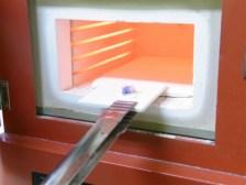ガラスフュージング 電気炉使用風景 アクセサリー