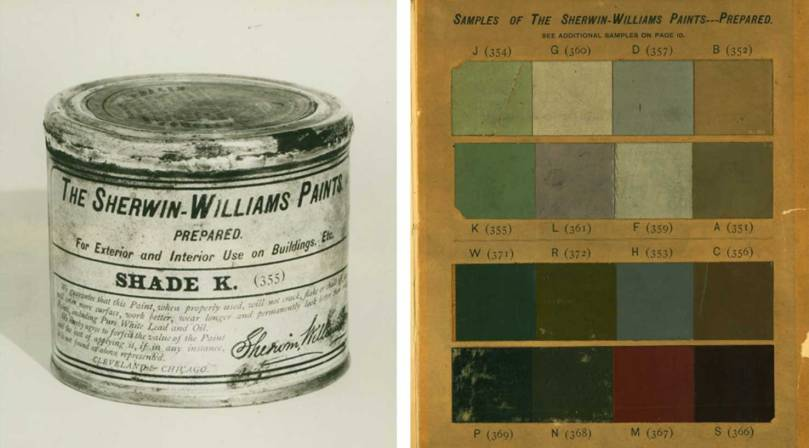 Image of the first can of Sherwin-Williams Paint, Prepared (SWP) made in 1880 and opened in 1916