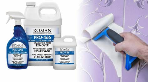 Roman wallpaper removal product