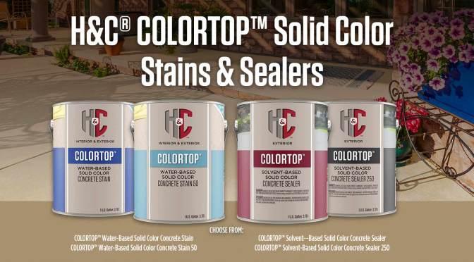 H&C Colortop contrete sealers