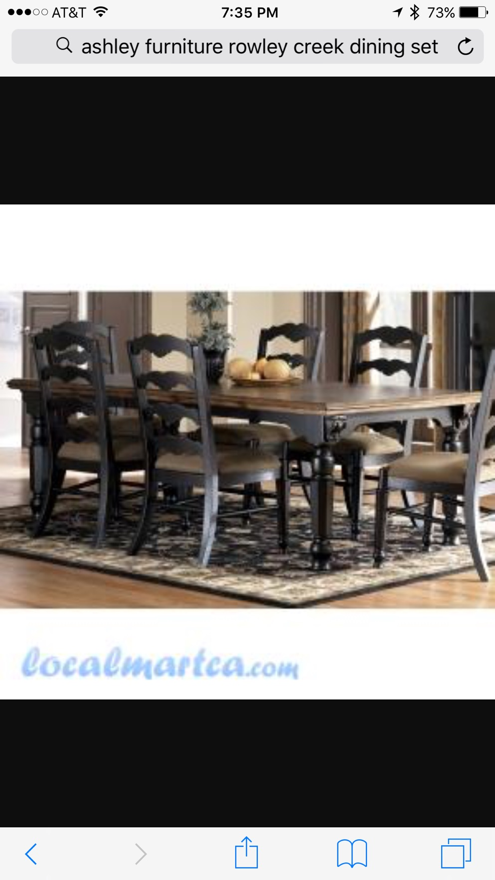 Price Reduced Ashley Furniture Rowley Creek Dining Room