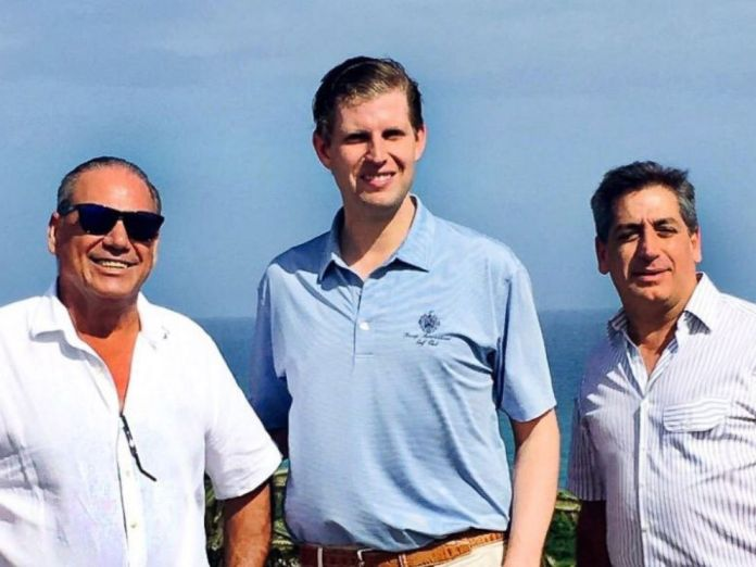 PHOTO: Cap Cana developers Ricardo and Fernando Hazoury welcomed Eric Trump to the Dominican Republic in February 2017 and posted a photo on their website to mark the occasion.