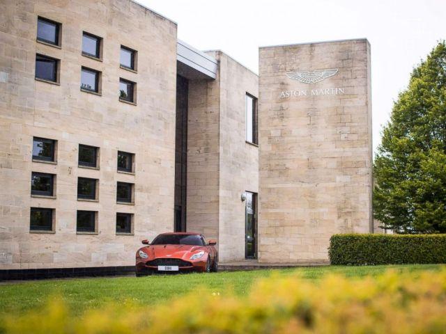 PHOTO: The entrance to Aston Martin Lagondas global headquarters in Gaydon, England.