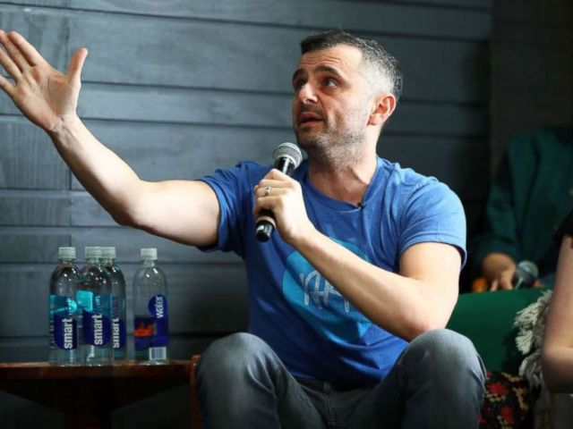 PHOTO: Gary Vaynerchuk speaks onstage at the Sound Ventures Tech Competition, PerfectPitch, at SXSW at Hotel Van Zandt on March 10, 2018 in Austin.
