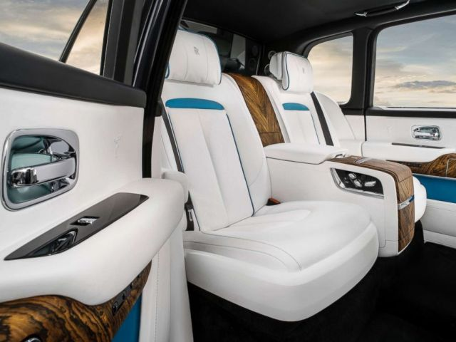 PHOTO: The interior of the Rolls-Royce Cullinan SUV is pictured in an undated handout image.