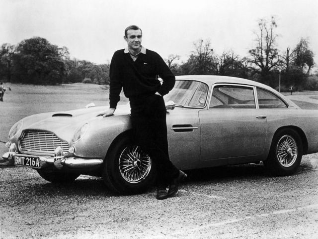PHOTO: In this file photo, actor Sean Connery, the original James Bond, is pictured here on the set of Goldfinger with one of the fictional spys cars, a 1964 Aston Martin DB5.