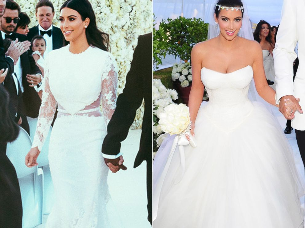How Kim Kardashian S Weddings To Kanye West And Kris Humphries Compare Abc News