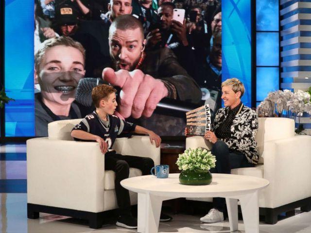 PHOTO: Selfie Kid Ryan McKenna appears on he Ellen DeGeneres Show.
