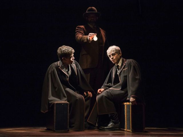 PHOTO: Sam Clemmett and Anthony Boyle in a scene from Harry Potter and the Cursed Child.