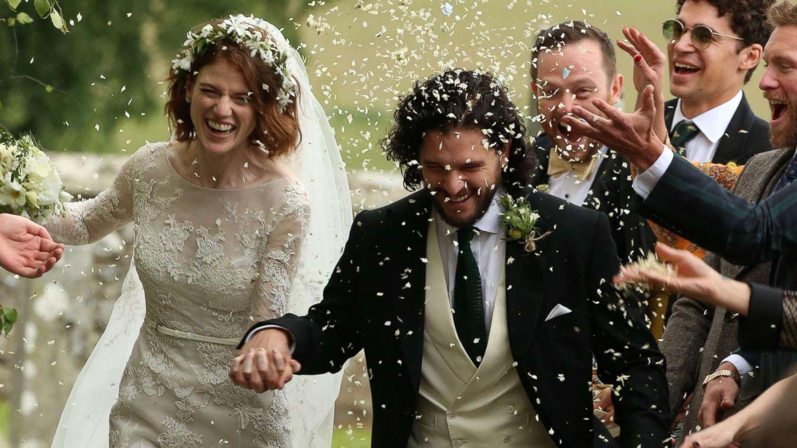 Kit Harington And Rose Leslie Wedding Guests