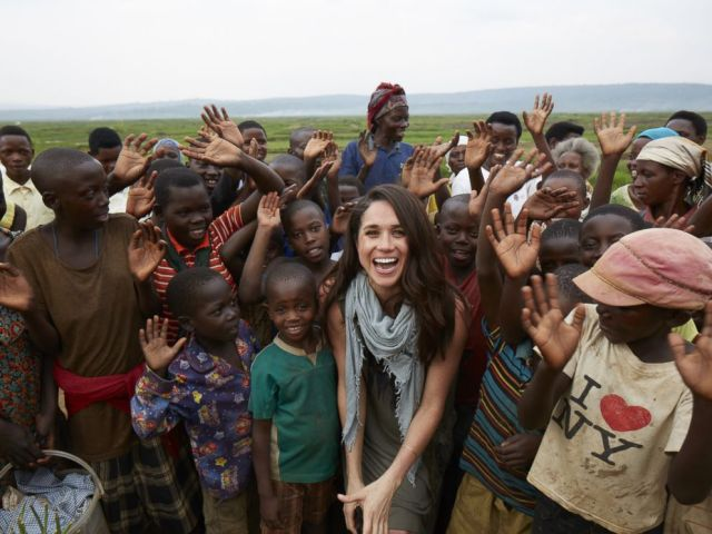 PHOTO: Meghan Markle has a outspoken humanitarian She became a global ambassador for the charity, World Vision, after visiting the rural area of Rwanda in 2016.