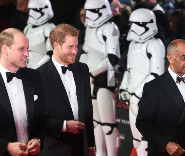 Prince William And Prince Harry Attend Premiere Of Star Wars The Last Jedi Abc News