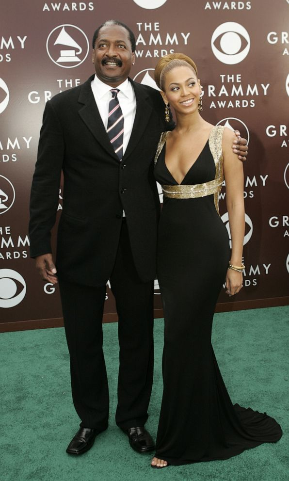 PHOTO: Singer Beyonce and her father Mathew Knowles arrive at the 47th annual Grammy Awards at the Staples Center in Los Angeles, February 13, 2005.