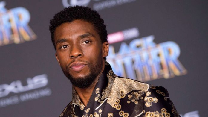"PHOTO: In this file photo taken on Jan. 29, 2018, actor Chadwick Boseman attends the world premiere of Marvel Studios ""Black Panther,"" in Hollywood."