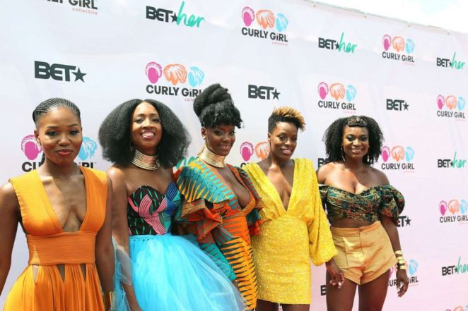 Founders of Curl Festival: Left: Gia Lowe, Tracey Coleman, Simone Mair, Melody Henderson and Charisse Higgins
