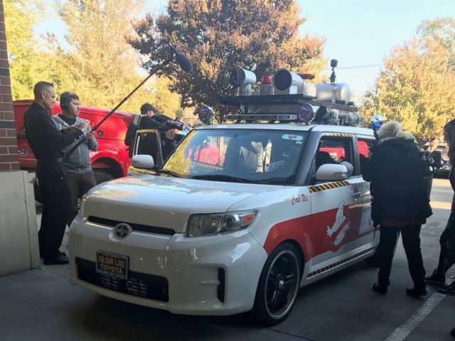 PHOTO: A Ghostbusters car was created to help make Londons wish come true.
