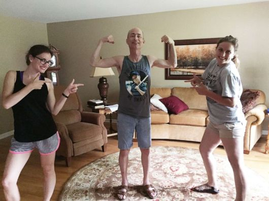 PHOTO: Bethany and Hannah Goralski are pictured here with their father before he passed away.