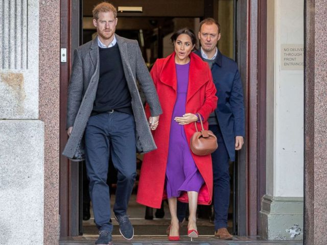 PHOTO: Britains Prince Harry and Meghan, Duchess of Sussex visit Birkenhead, Britain Jan. 14, 2019.