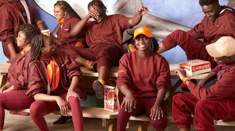 PHOTO: Popeyes releases a fashion line based on employee uniforms.