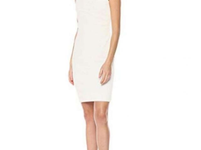 PHOTO: The Calvin Klein Womens Sleeveless Scuba Starburst Sheath Dress is pictured here.