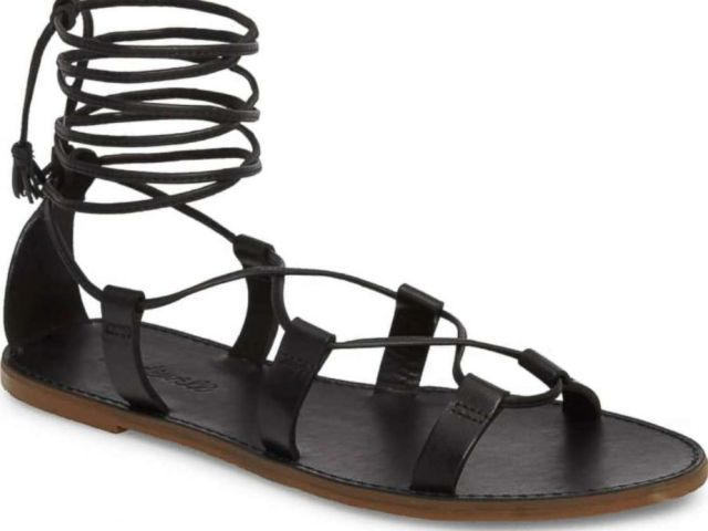 PHOTO: The Boardwalk Lace-Up sandal by Madewell is pictured here.