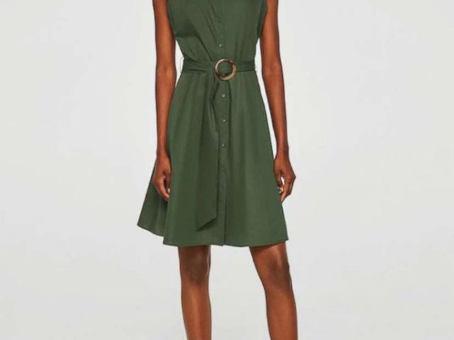 PHOTO: A belt shirt dress by Mango is pictured here.