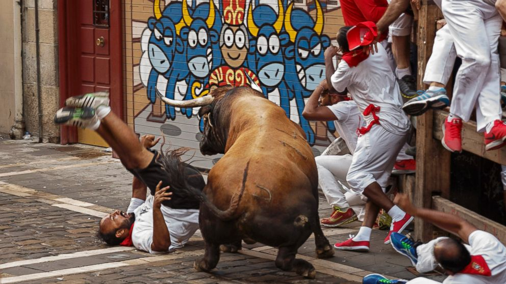 American Woman Injured In Spains Bull Running Festival