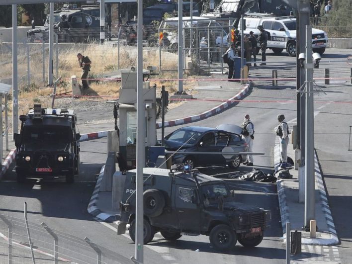 Israeli police release video of alleged car-ramming attack - ABC News