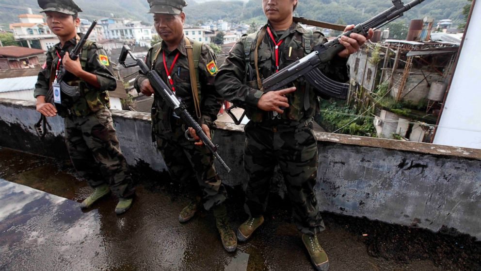 Ethnic guerrillas in Myanmar say they shot down helicopter, Swahili Post