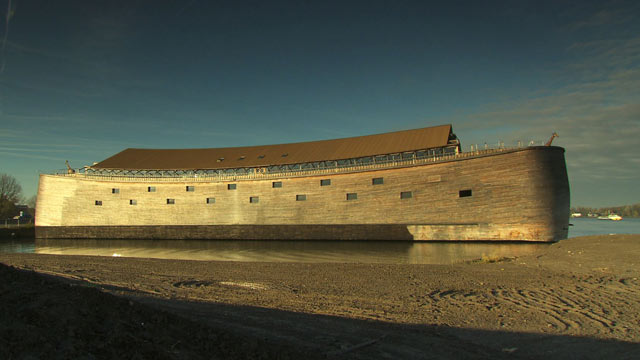 PHOTO: This ark, located an hour south of Amsterdam, is a replica of Noahs Biblical boat. Underwater archaeologist Bob Ballard is in Turkey, looking for evidence that the Great Flood happened.