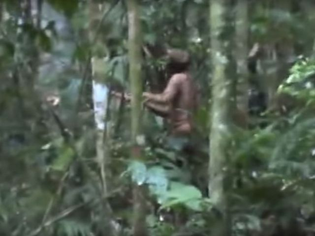 PHOTO: Images show the only survivor of an Amazonian tribe, according to FUNAI, a Brazilian government agency that protects the interests of natives.