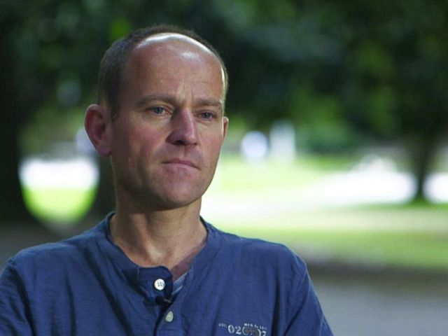 PHOTO: Jason Mallinson, a diver with the British Cave Rescue Council, was the diver first out of the Thai cave with the first boy.